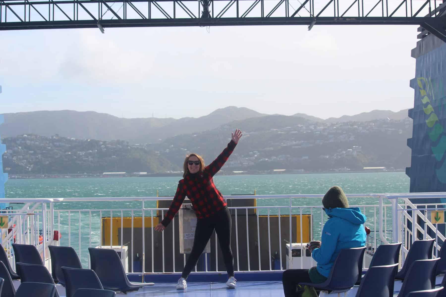 Brodie on The Interislander in Wellington