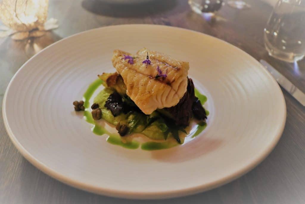 Hapuku Lodge, fresh fish for dinner
