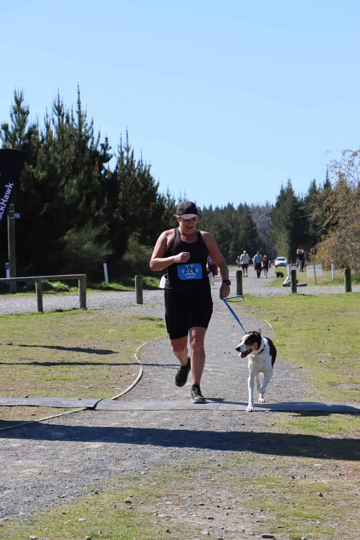 Finish line, Four Paws Marathon Christchurch